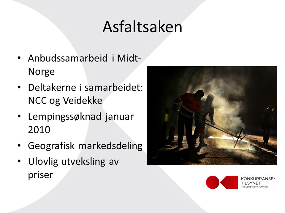 Asfaltsaken Anbudssamarbeid i Midt-Norge
