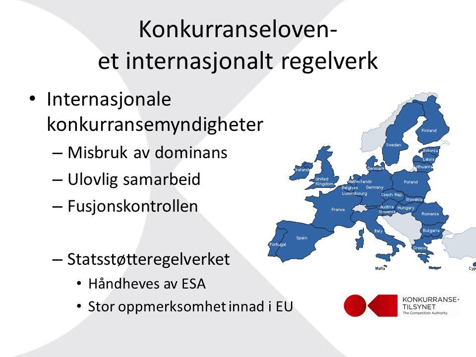 Konkurranseloven- et internasjonalt regelverk