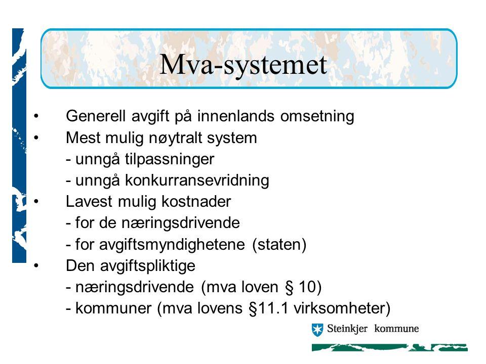 Mva-systemet Generell avgift på innenlands omsetning