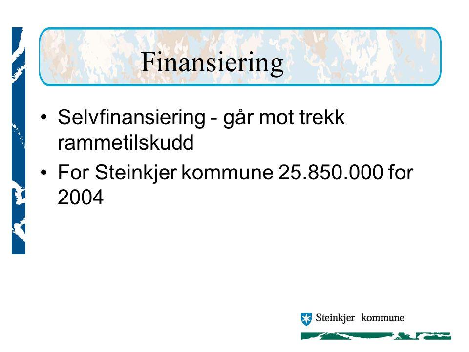 Finansiering Selvfinansiering - går mot trekk rammetilskudd