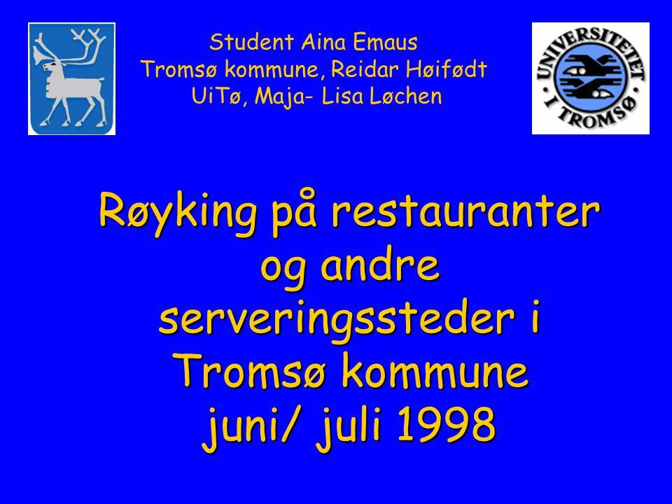 Student Aina Emaus Tromsø kommune, Reidar Høifødt UiTø, Maja- Lisa Løchen