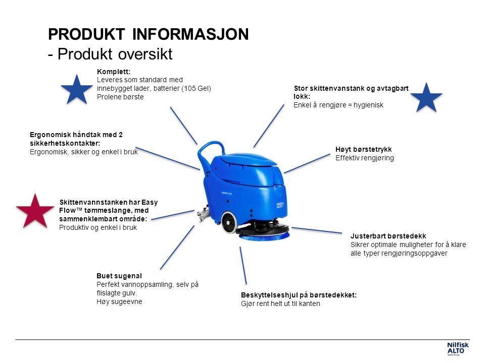 PRODUKT INFORMASJON - Produkt oversikt
