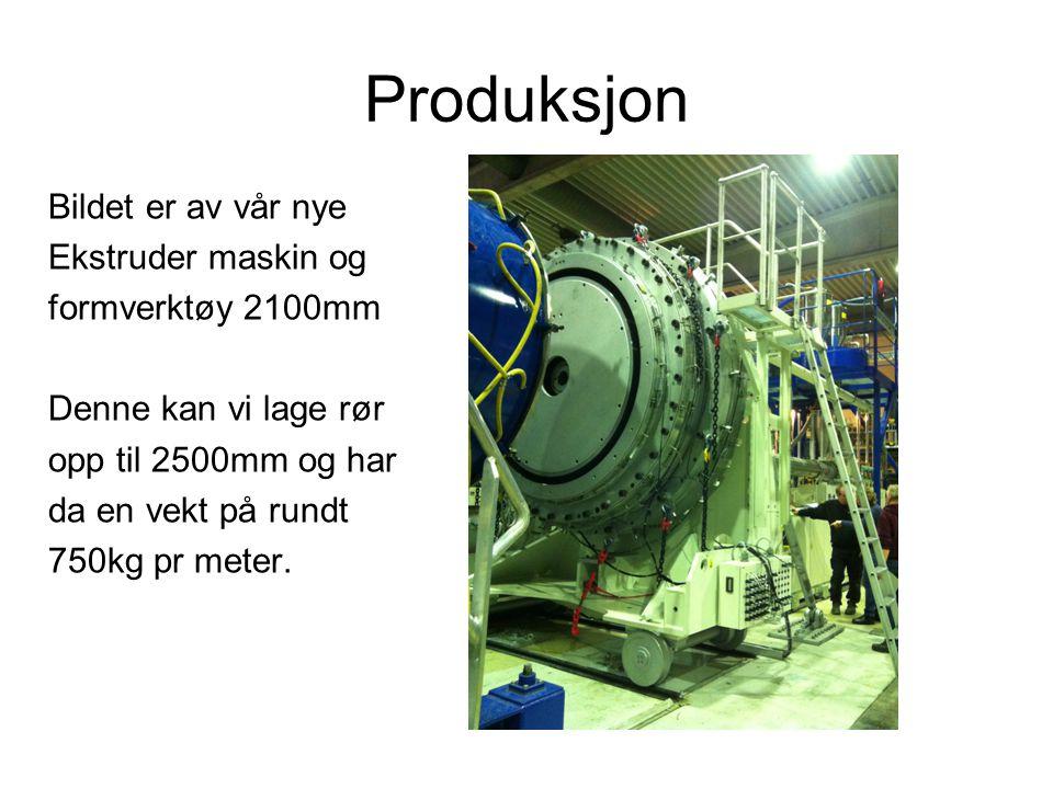 Produksjon Bildet er av vår nye Ekstruder maskin og formverktøy 2100mm