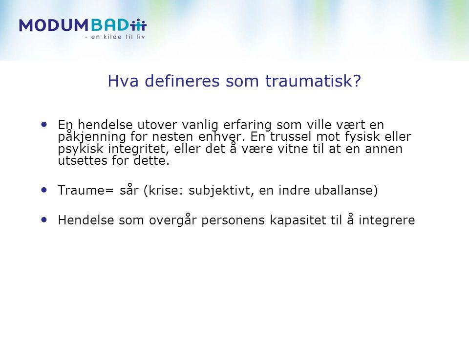 Hva defineres som traumatisk