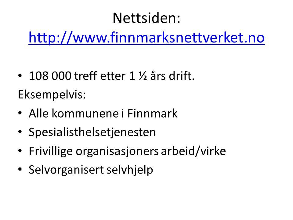 Nettsiden: http://www.finnmarksnettverket.no