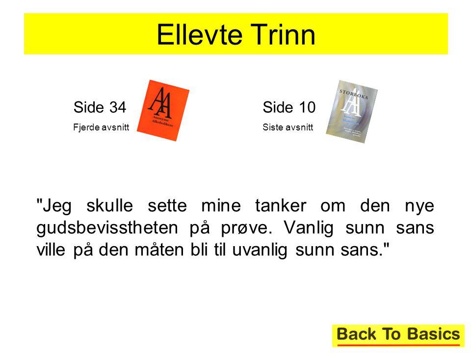 Ellevte Trinn Side 34. Fjerde avsnitt. Side 10. Siste avsnitt.