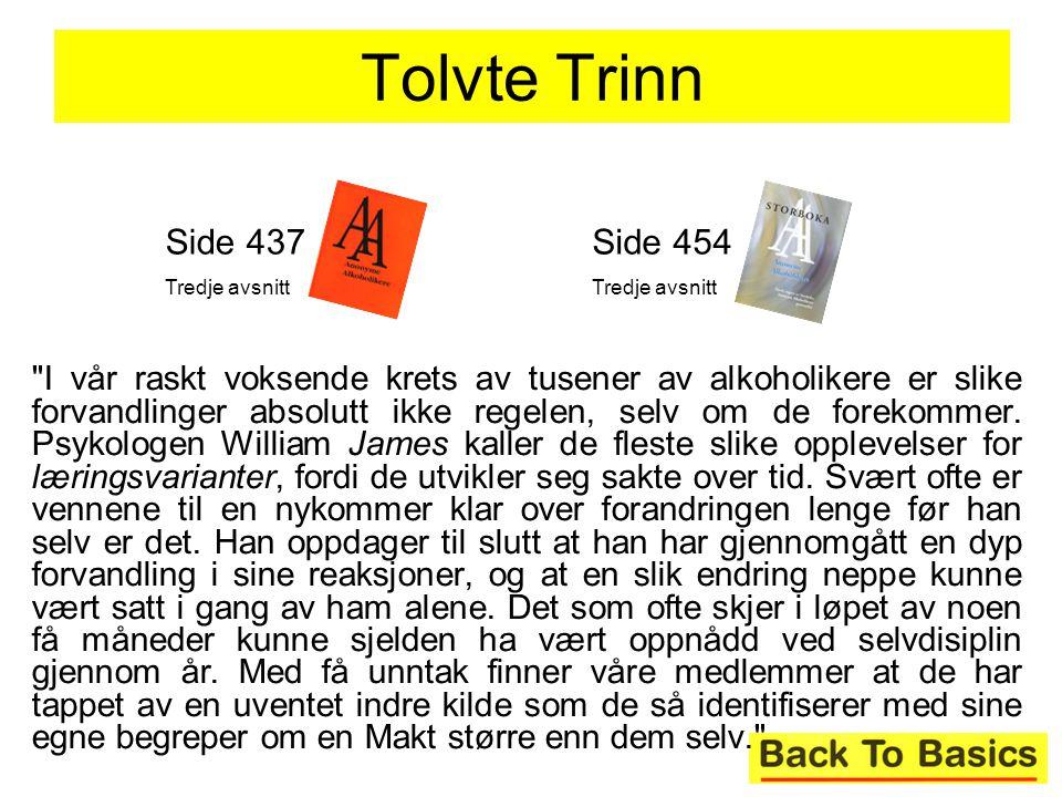 Tolvte Trinn Side 437. Tredje avsnitt. Side 454. Tredje avsnitt.