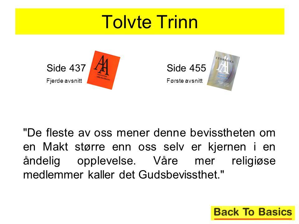 Tolvte Trinn Side 437. Fjerde avsnitt. Side 455. Første avsnitt.