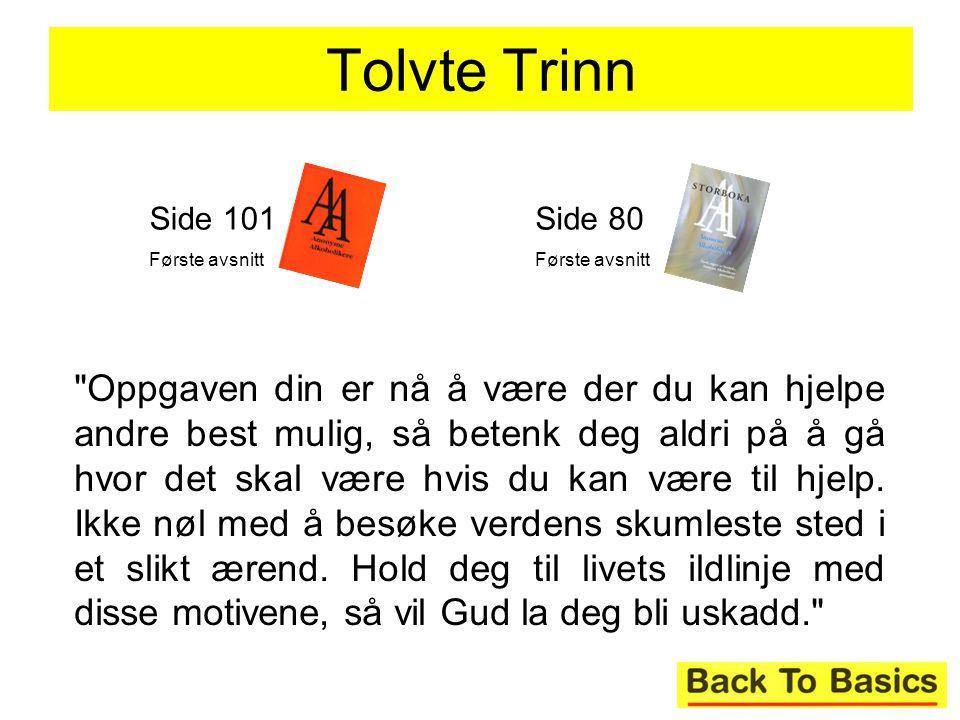 Tolvte Trinn Side 101. Første avsnitt. Side 80. Første avsnitt.