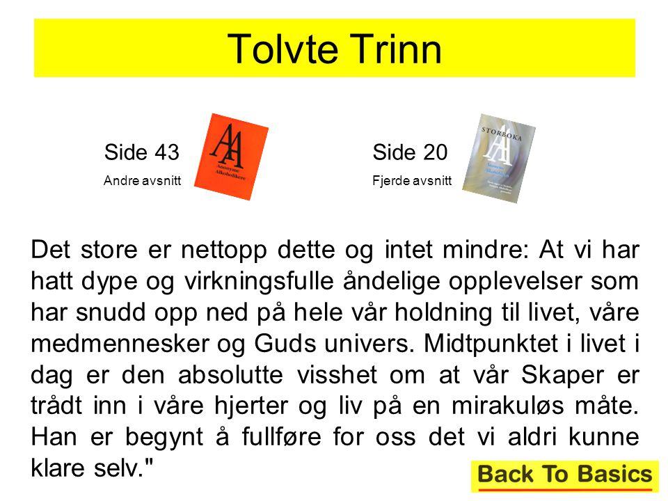 Tolvte Trinn Side 43. Andre avsnitt. Side 20. Fjerde avsnitt.