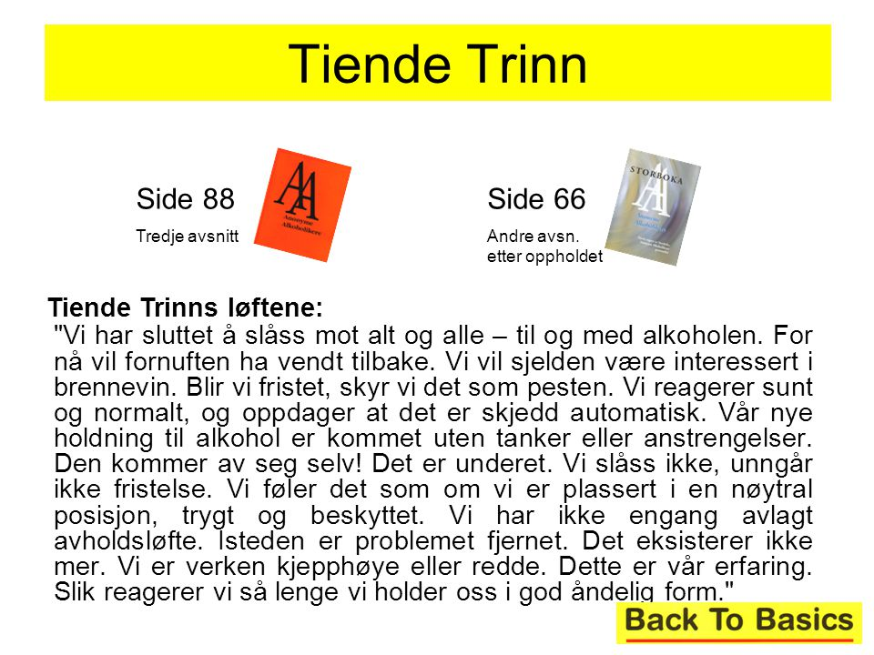Tiende Trinn Side 88 Side 66 Tiende Trinns løftene: