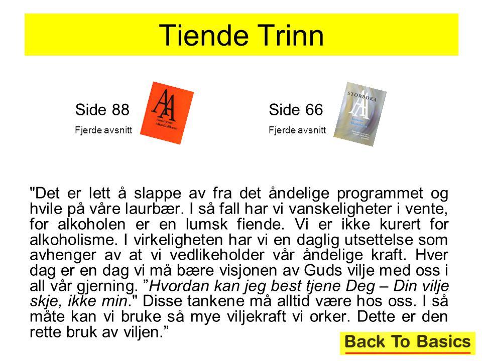 Tiende Trinn Side 88. Fjerde avsnitt. Side 66. Fjerde avsnitt.