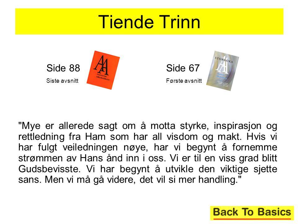 Tiende Trinn Side 88. Siste avsnitt. Side 67. Første avsnitt.
