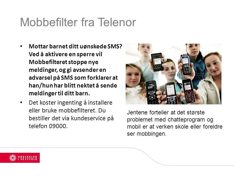 Mobbefilter fra Telenor