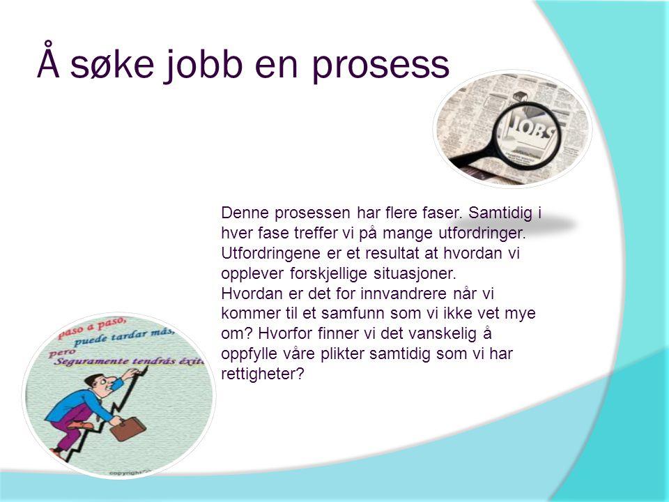 Å søke jobb en prosess