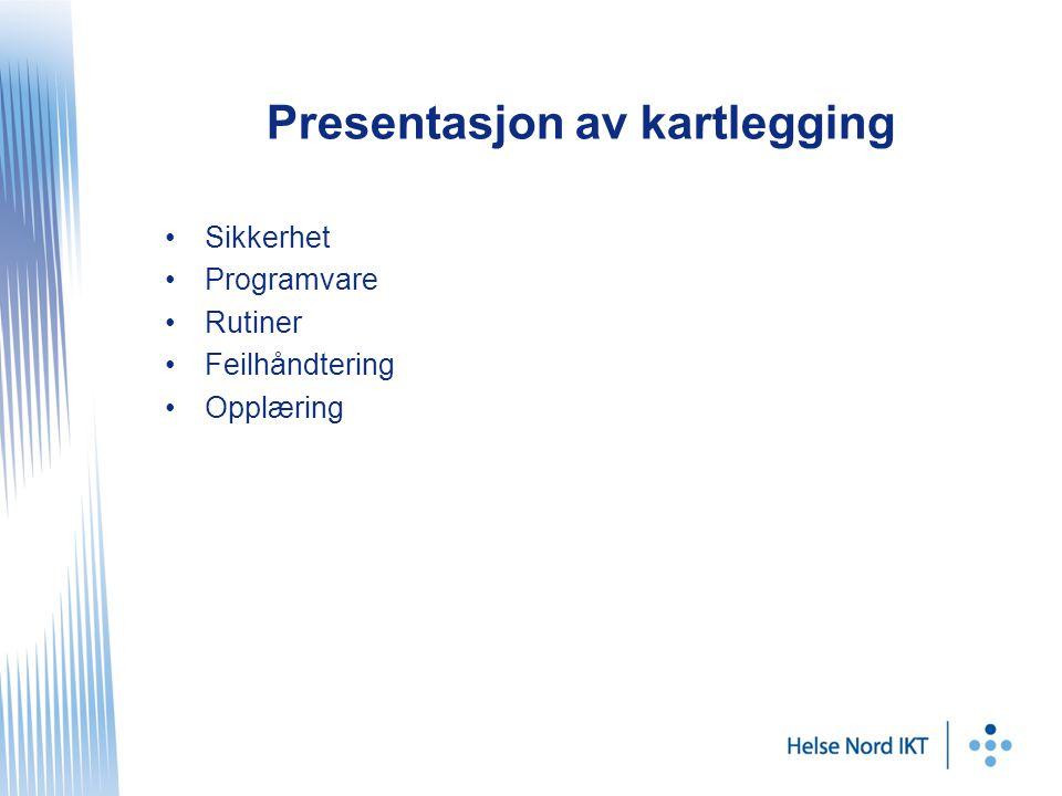 Presentasjon av kartlegging