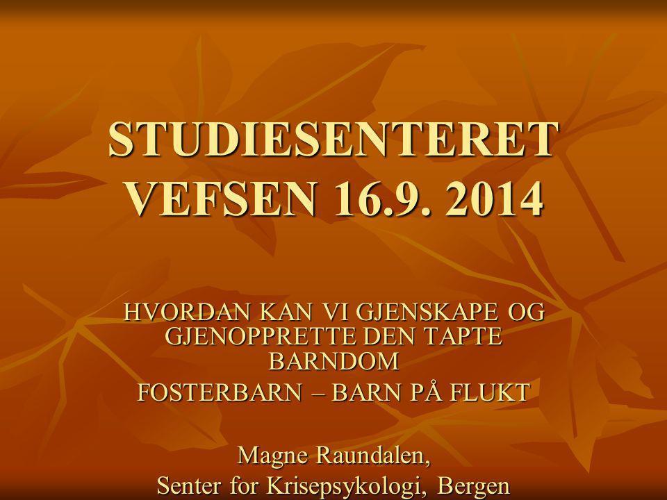 STUDIESENTERET VEFSEN 16.9. 2014