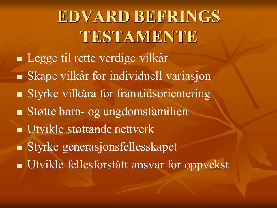 EDVARD BEFRINGS TESTAMENTE