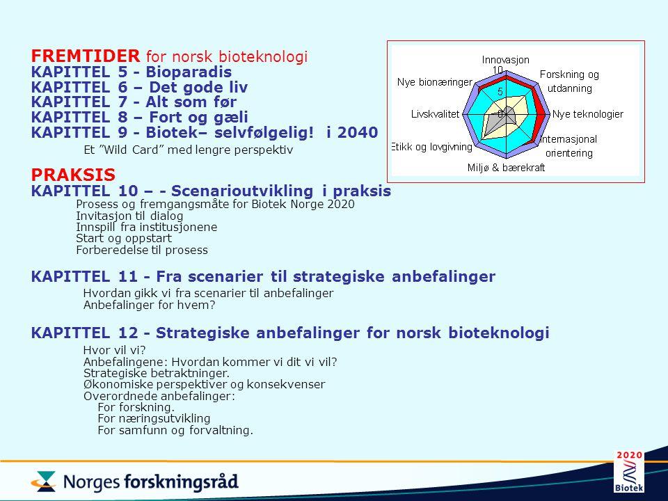 FREMTIDER for norsk bioteknologi