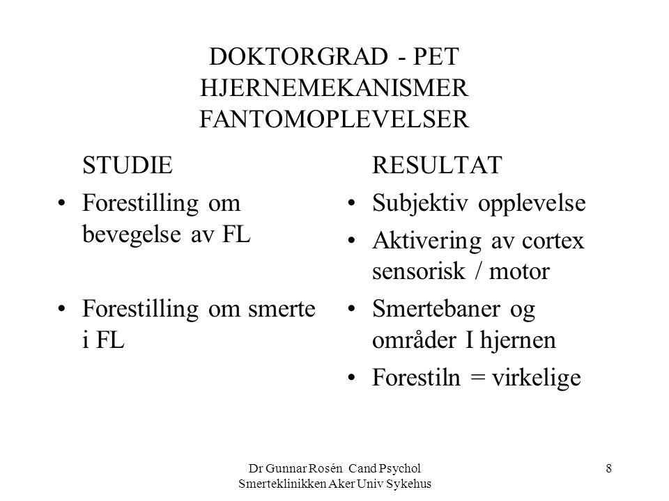 DOKTORGRAD - PET HJERNEMEKANISMER FANTOMOPLEVELSER
