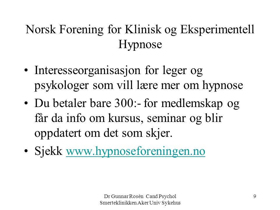 Norsk Forening for Klinisk og Eksperimentell Hypnose