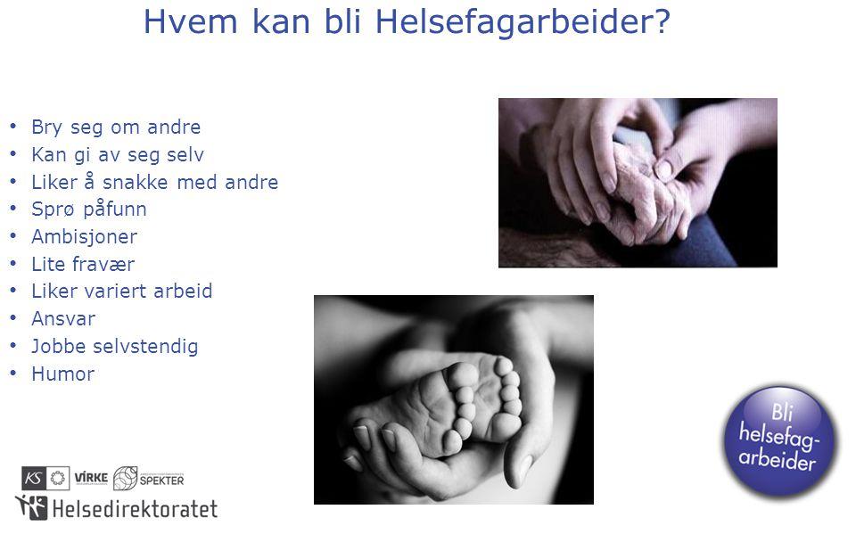 Hvem kan bli Helsefagarbeider