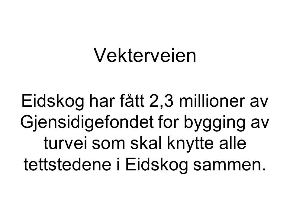 Vekterveien Eidskog har fått 2,3 millioner av Gjensidigefondet for bygging av turvei som skal knytte alle tettstedene i Eidskog sammen.