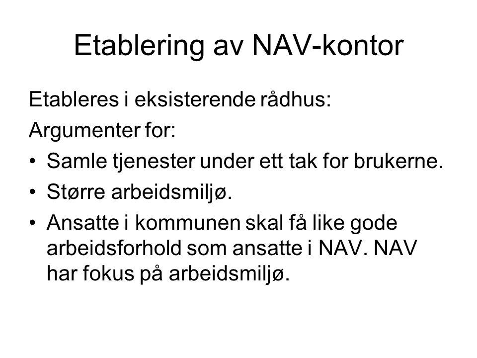 Etablering av NAV-kontor