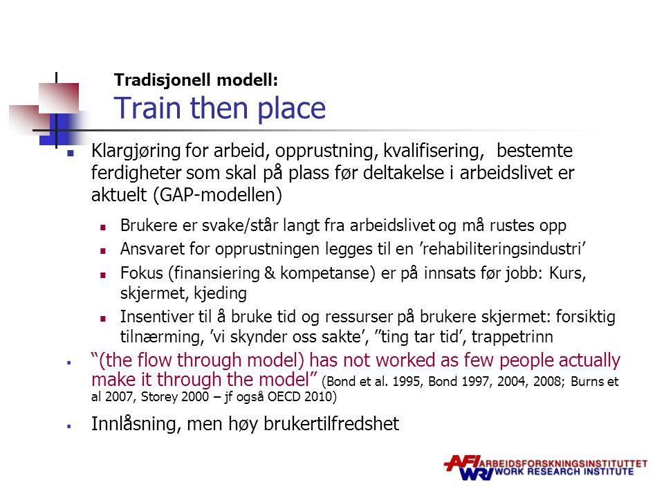 Tradisjonell modell: Train then place