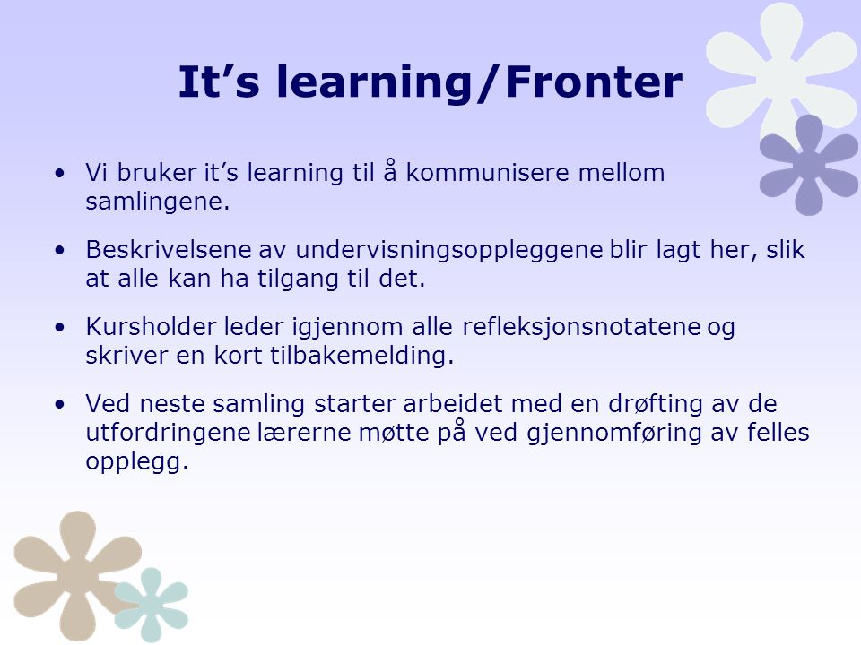 It's learning/Fronter