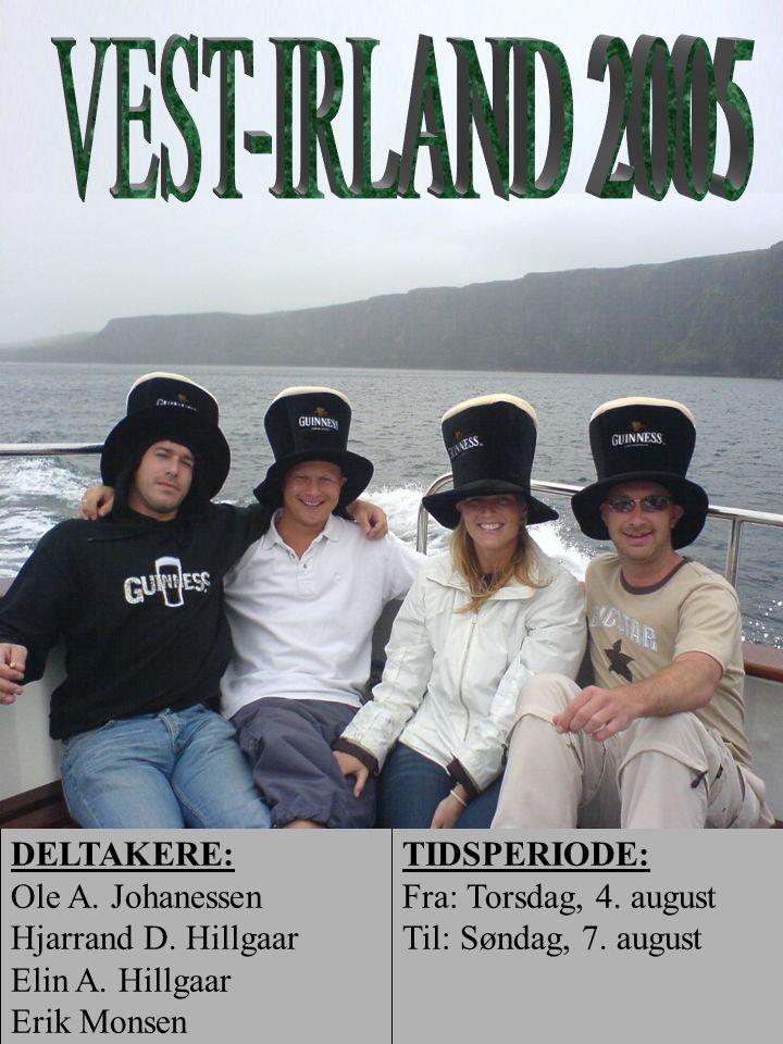 VEST-IRLAND 2005 DELTAKERE: Ole A. Johanessen Hjarrand D. Hillgaar