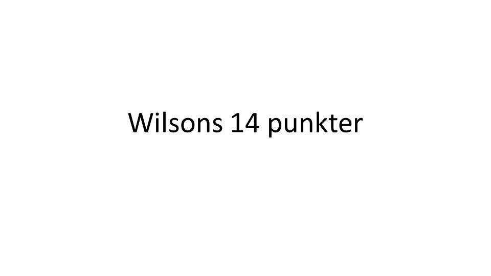 Wilsons 14 punkter
