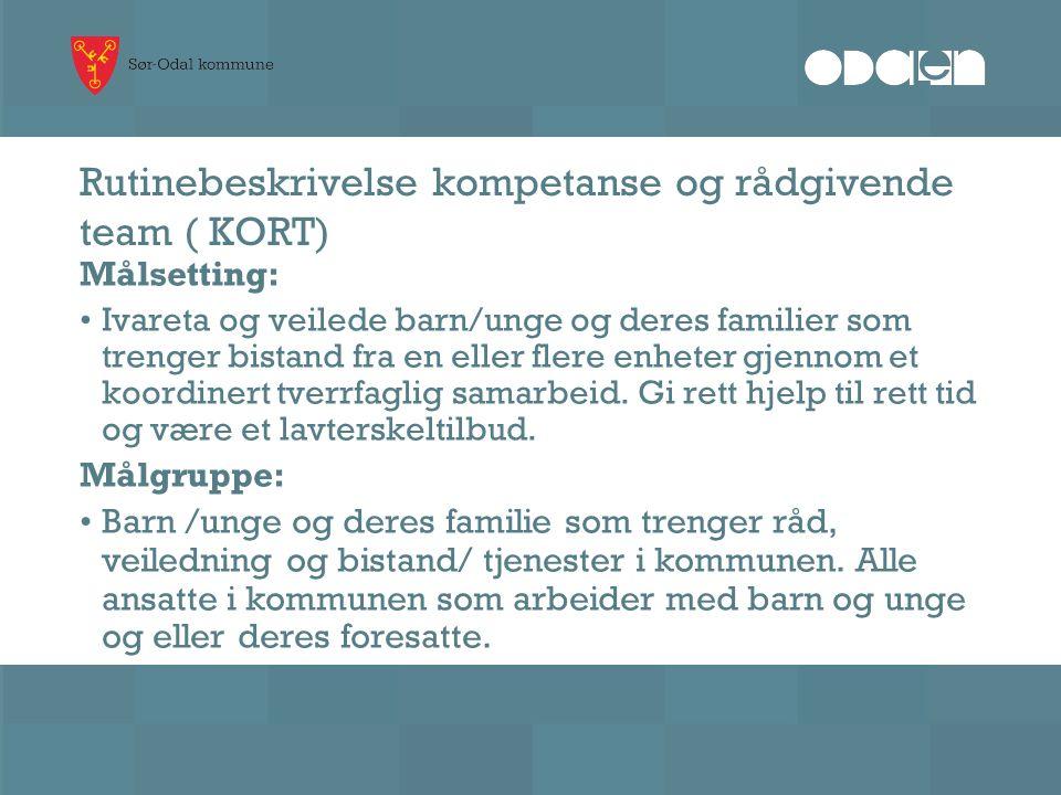 Rutinebeskrivelse kompetanse og rådgivende team ( KORT)