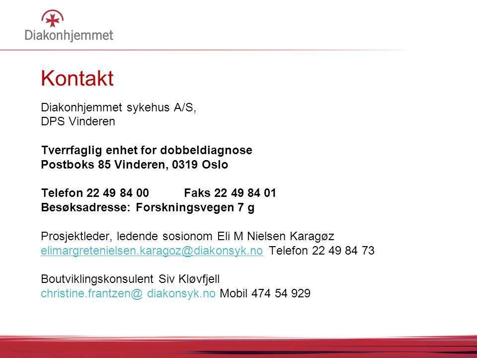 Kontakt Diakonhjemmet sykehus A/S, DPS Vinderen