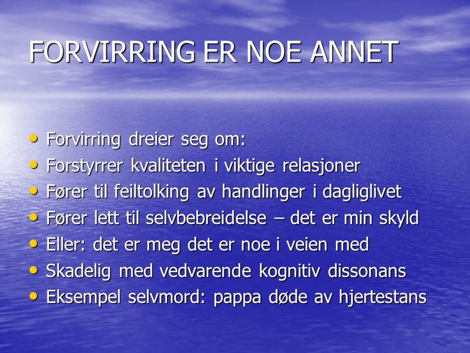 FORVIRRING ER NOE ANNET