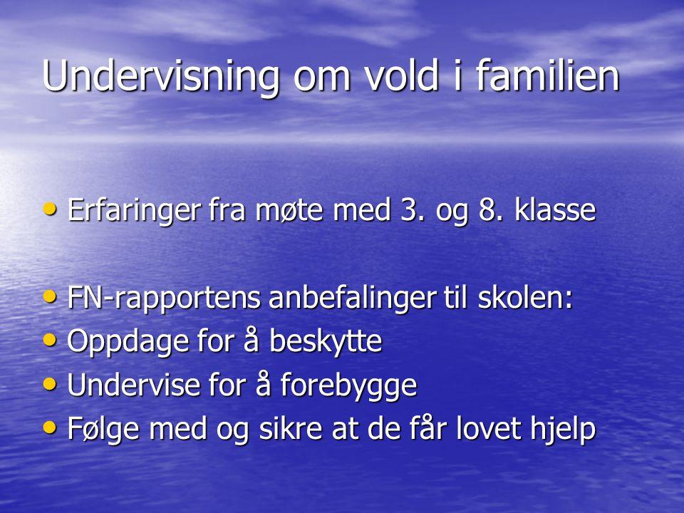 Undervisning om vold i familien
