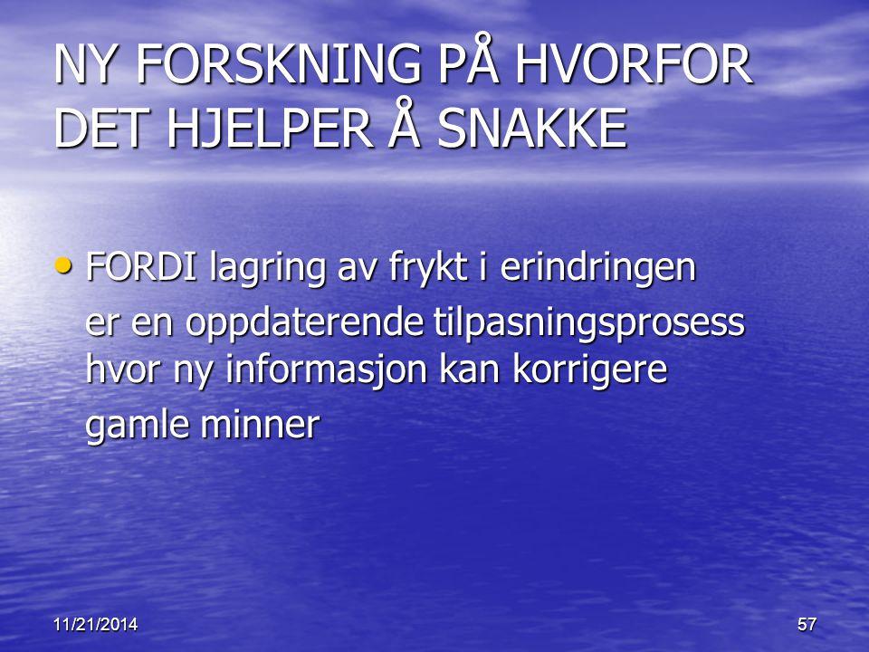 NY FORSKNING PÅ HVORFOR DET HJELPER Å SNAKKE