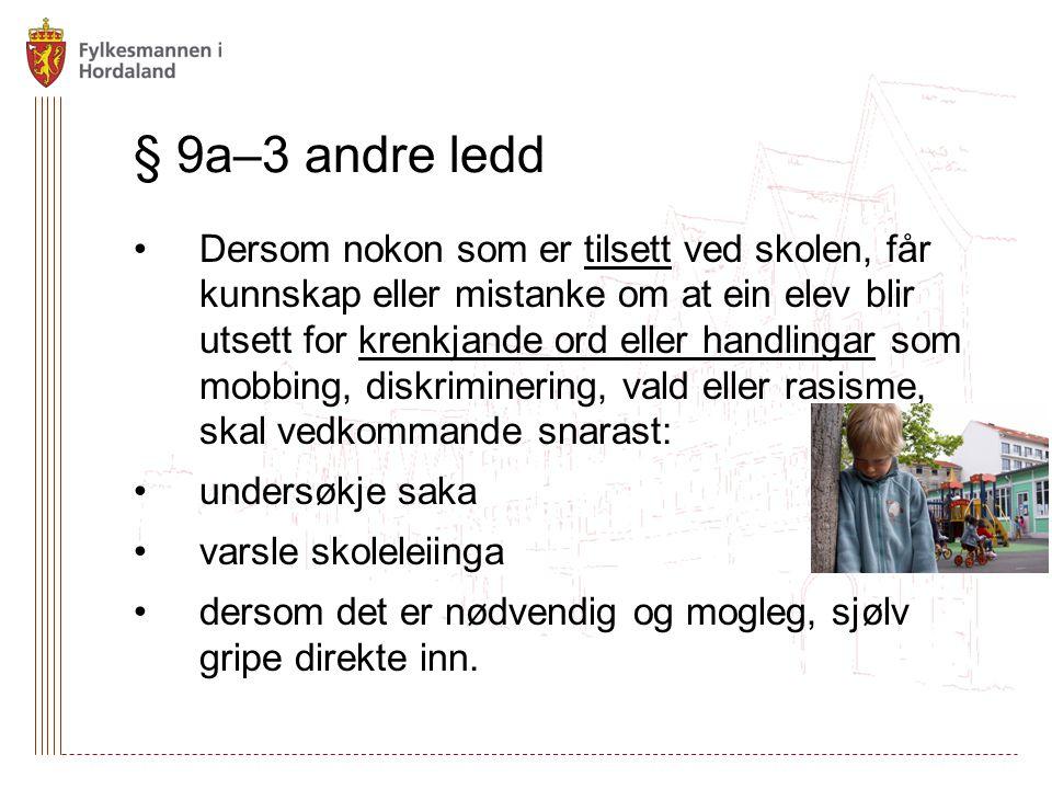 § 9a–3 andre ledd