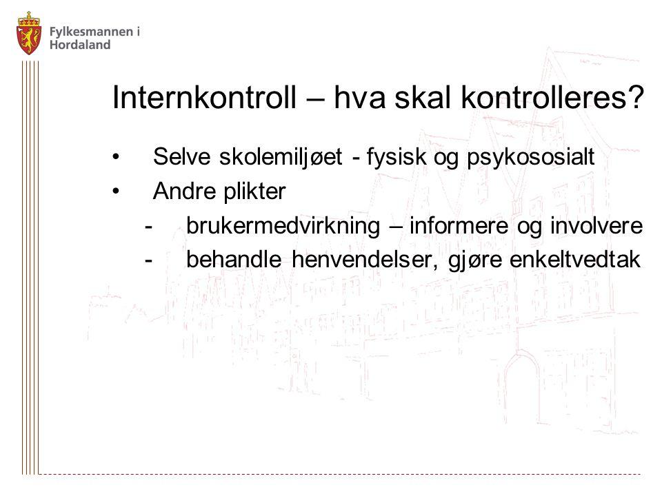 Internkontroll – hva skal kontrolleres