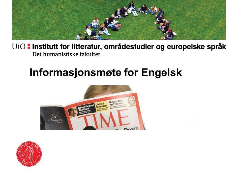 Informasjonsmøte for Engelsk