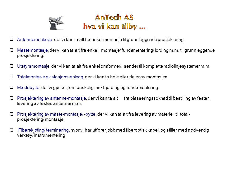 AnTech AS hva vi kan tilby ...