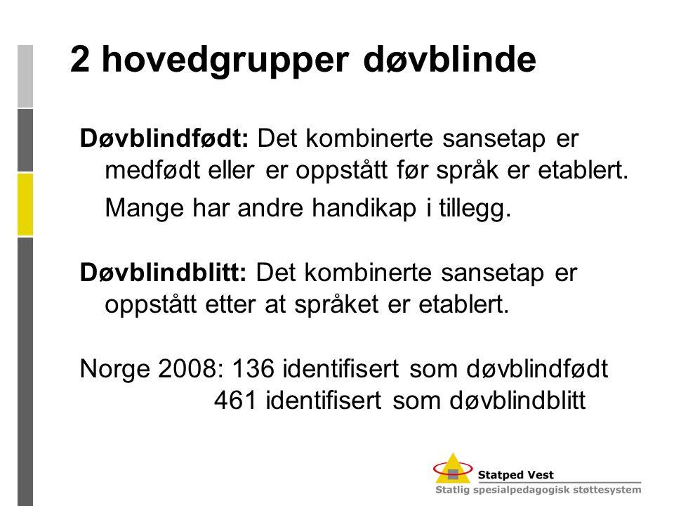 2 hovedgrupper døvblinde