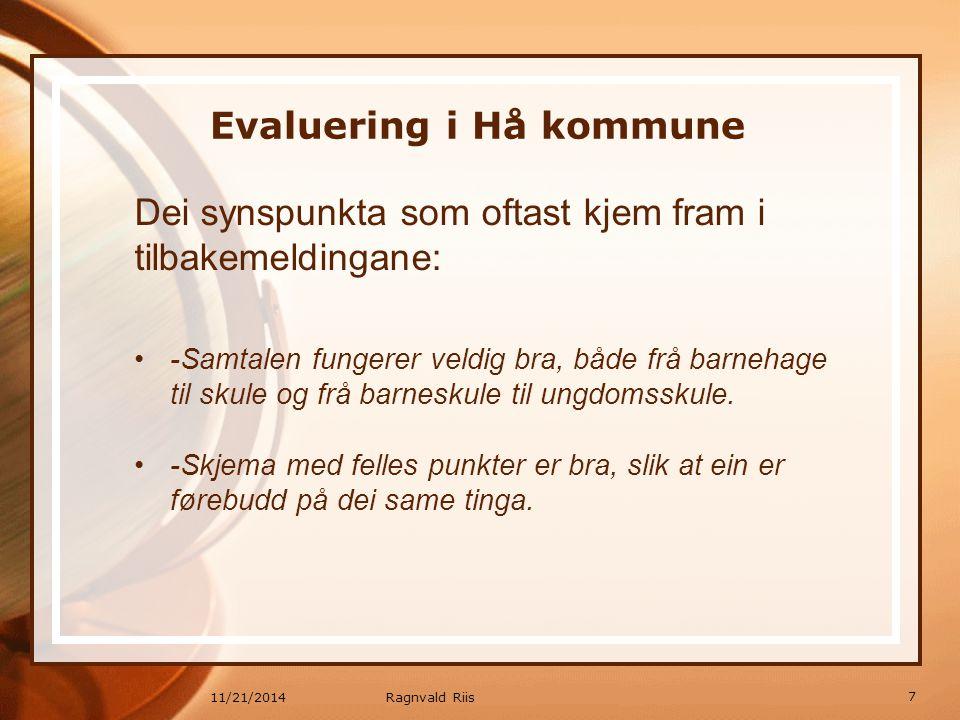 Evaluering i Hå kommune
