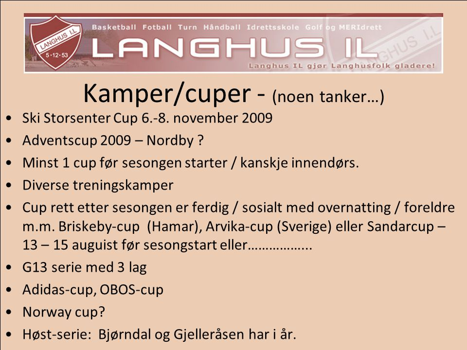 Kamper/cuper - (noen tanker…)