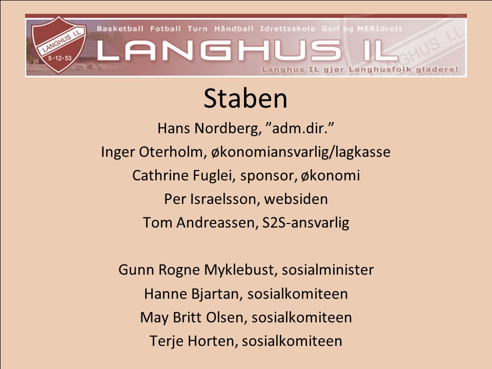 Staben Hans Nordberg, adm.dir.