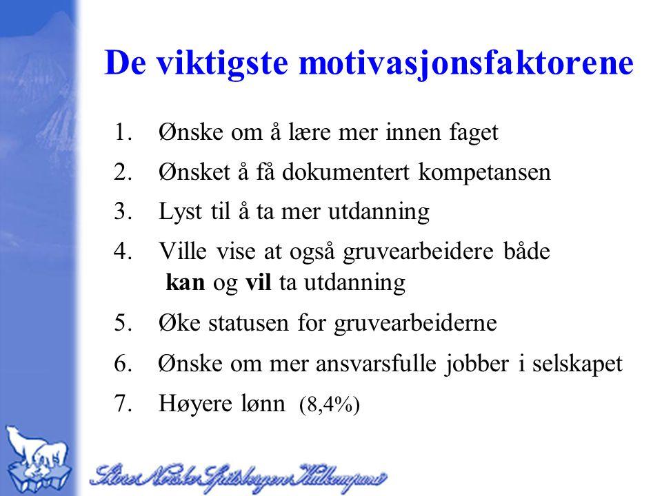 De viktigste motivasjonsfaktorene