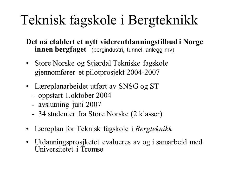 Teknisk fagskole i Bergteknikk