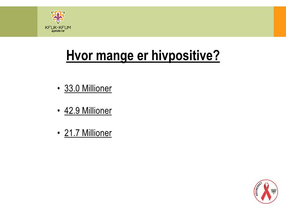 Hvor mange er hivpositive