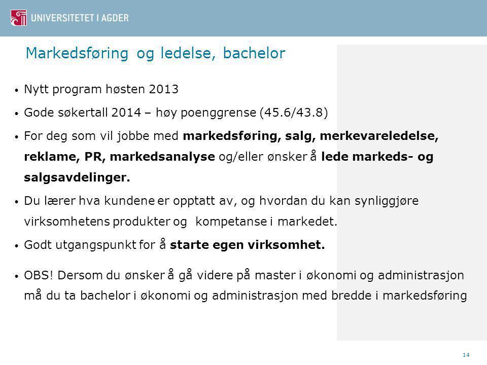 Markedsføring og ledelse, bachelor