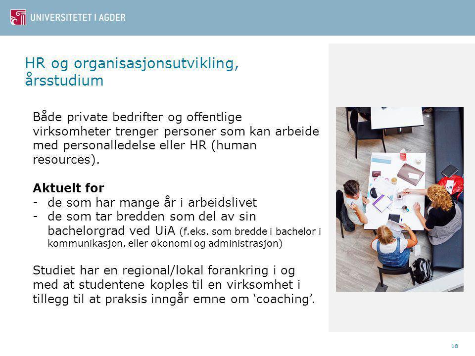 HR og organisasjonsutvikling, årsstudium